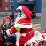 Santa Claus on a Harley Davidson 2014
