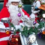 Santa Claus on a Harley Davidson 2015